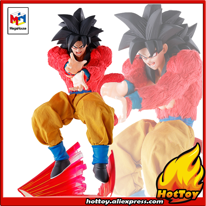 100% Original MegaHouse Dimension of DRAGONBALL Over Drive Complete Action Figure - Son Gokou Super Saiyan 4 Dragon Ball GT anime dragon ball super saiyan 3 son gokou pvc action figure collectible model toy 18cm kt2841