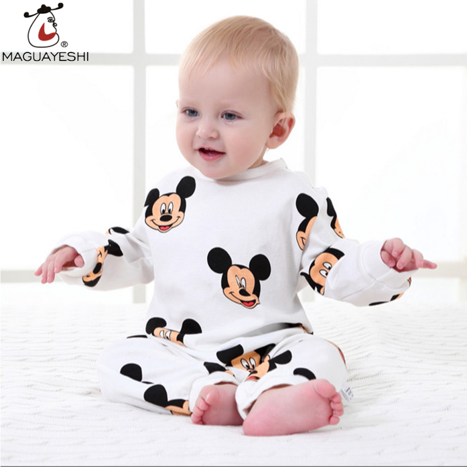 Newborn Baby Clothes Cartoon Baby Rompers Long Sleeve Baby -4394