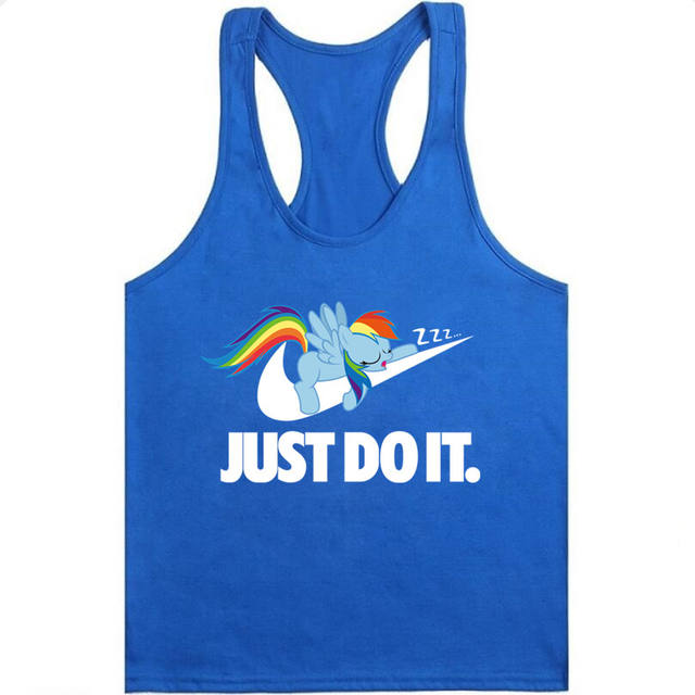 Tank Top Men JUST DO IT  Fitness Singlets Bodybuilding Stringer Golds Gyms Clothing Muscle Shirt Vest Sportwear Workout