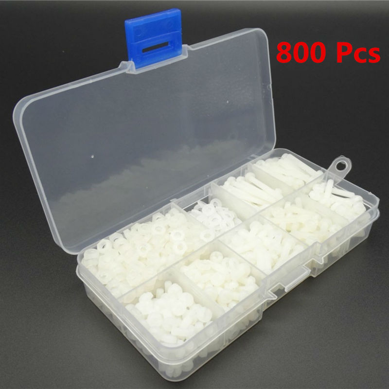 Confezione da 10 M6 x 15mm O//D x 20mm di lunghezza Nylon Distanziatori//Stand-Off RONDELLA Plastica