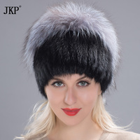 Winter women's hat real mink fur hat mink fox fur plated caps woman russian new women's fur hat DHY17 37