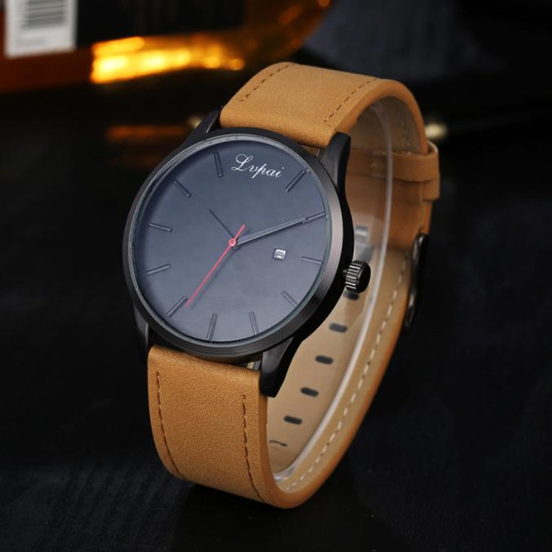 Excellent Quality New 2017 Fashion Quartz Watch Men Military Leather Watches Luxury Brand Casual Wristwatches Relogio Masculino