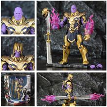 Marvel Avenger 4 Endgame 8 Thanos 2019 film 20cm figurka rękawica nieskończoności legendy oryginalne ZD zabawki lalki kolekcjonerskie tanie tanio JAXTOY Model Żołnierz gotowy produkt Wyroby gotowe Unisex 8 About 20cm Zachodnia animiation Pierwsze wydanie Zapas rzeczy