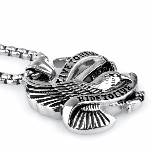 stainless-steel-eagle-necklace-pendant-in-silver-and-black
