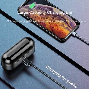 Image 4 - TWS V5.0 블루투스 이어폰 8D 스테레오 무선 헤드폰 스포츠 무선 이어폰 LED 2000 mAh 충전 빈 전화 홀더