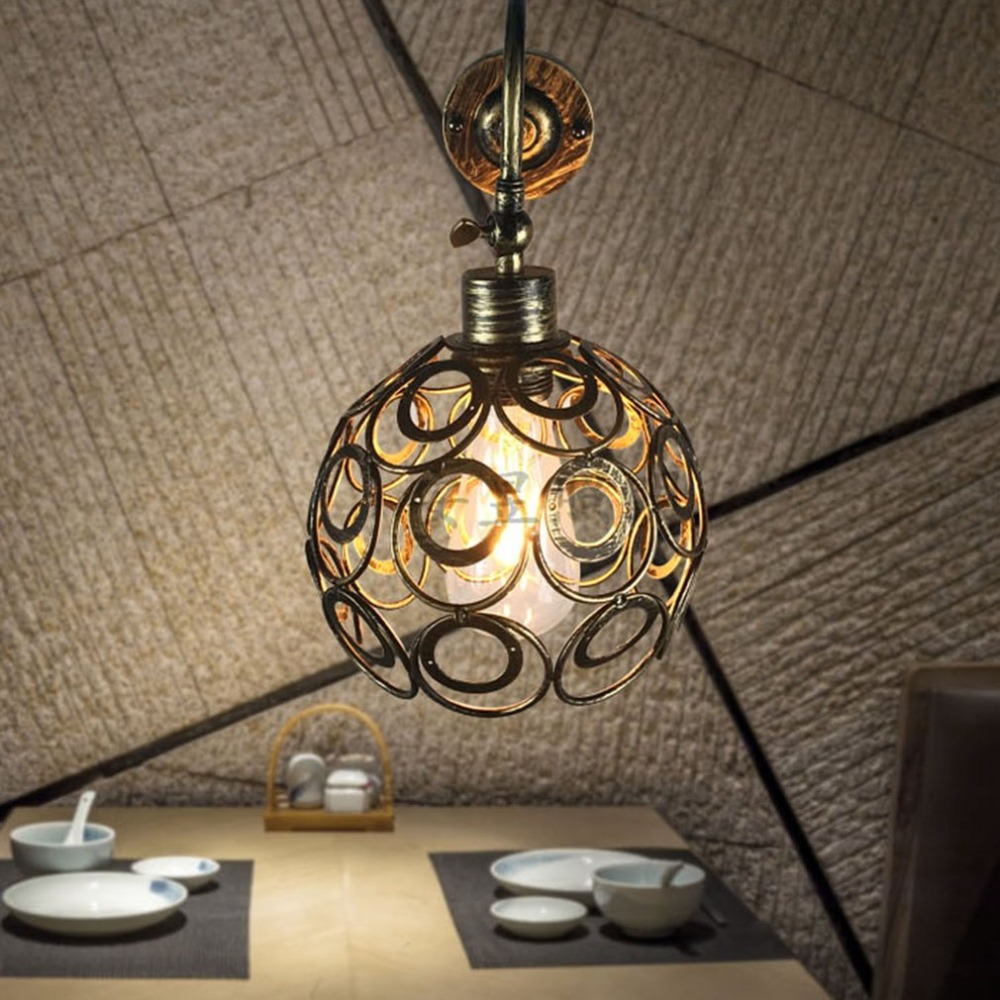 American Country Small Cages Retro Industrial Style Vintage Loft Iron Wall Lamps for Aisle Bar Cafe Lighting Fixture цена 2017