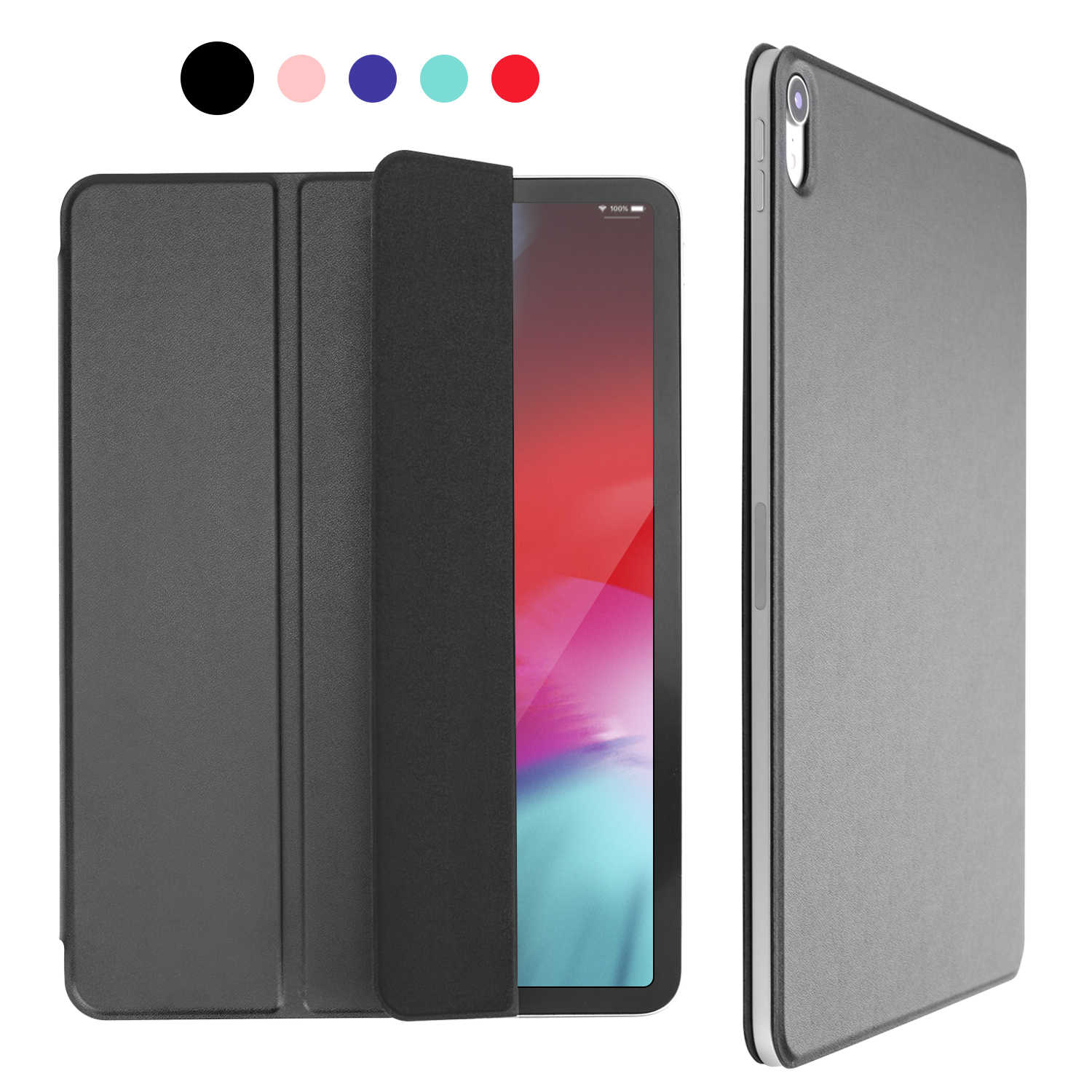 b143ee1ac7f ... For iPad Pro 11 Case for iPad Pro 12.9 2018 Funda Magnetic Ultra Slim Smart  Cover ...