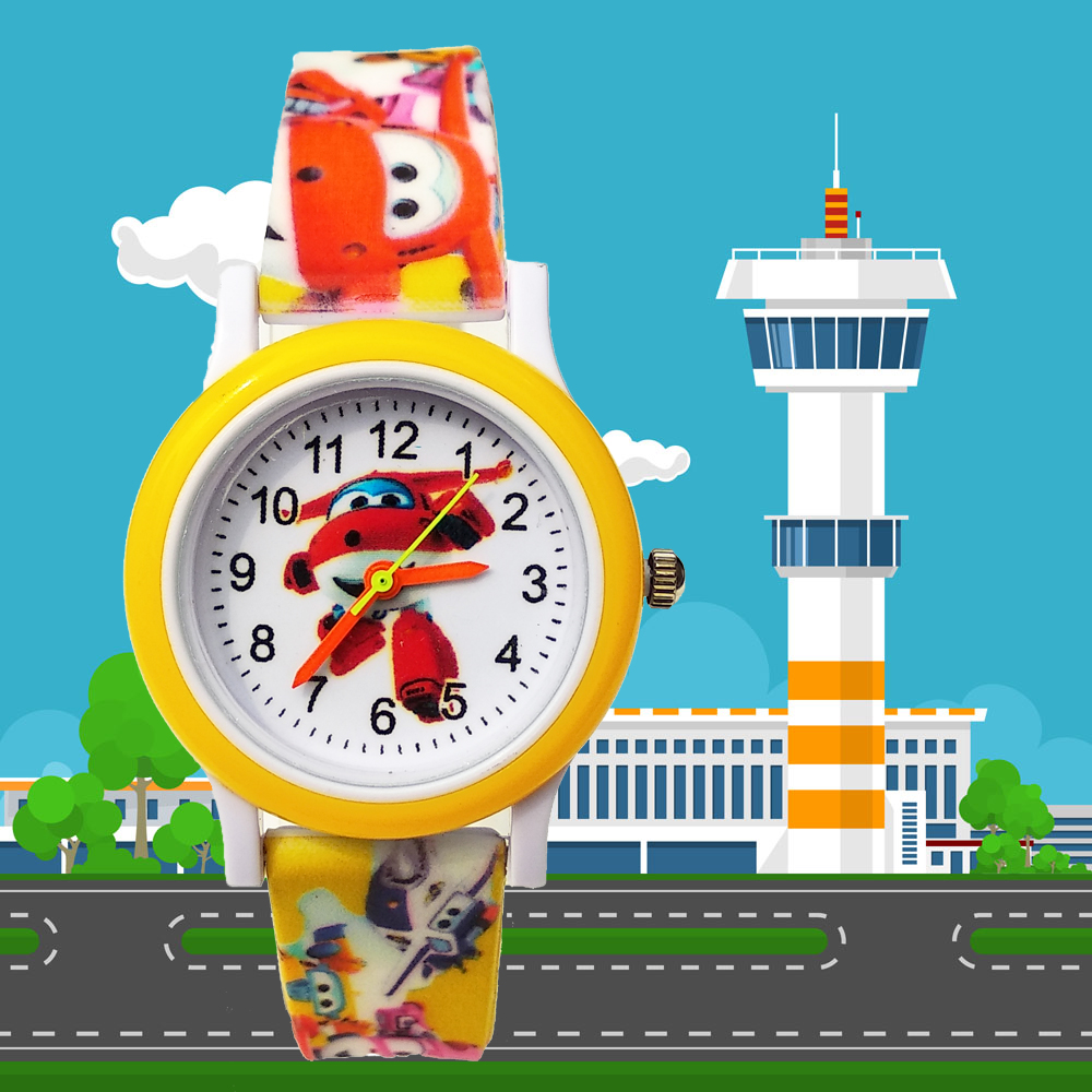 2019 New Printed Strap 3D Aircraft Car Children Watch Kids Watches For Boys Girls Gift Baby Christmas Gift Men Student Clock