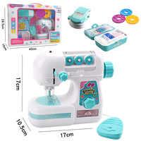 Simulation kinder Nähen Maschine Spielzeug Kinder Mini Möbel Pretend Spielen Mädchen Design Kleidung Spielzeug Für Pädagogisches Geschenk