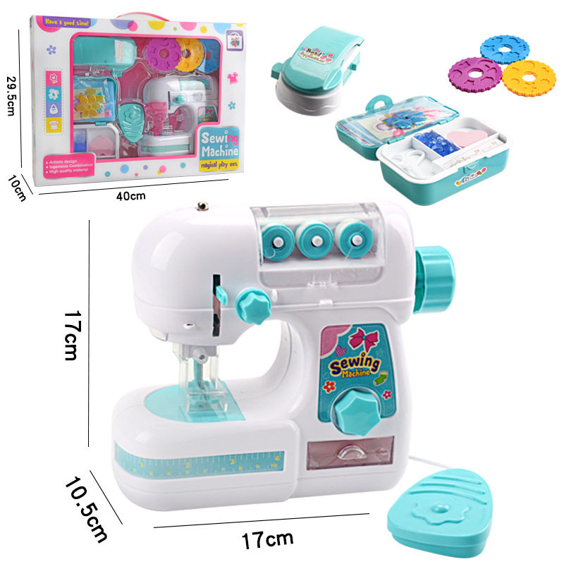 Simulation Children's Sewing Machine Toy Kids Mini Furniture Pretend Playing Girl Design Clothing Toys For Educational Gift