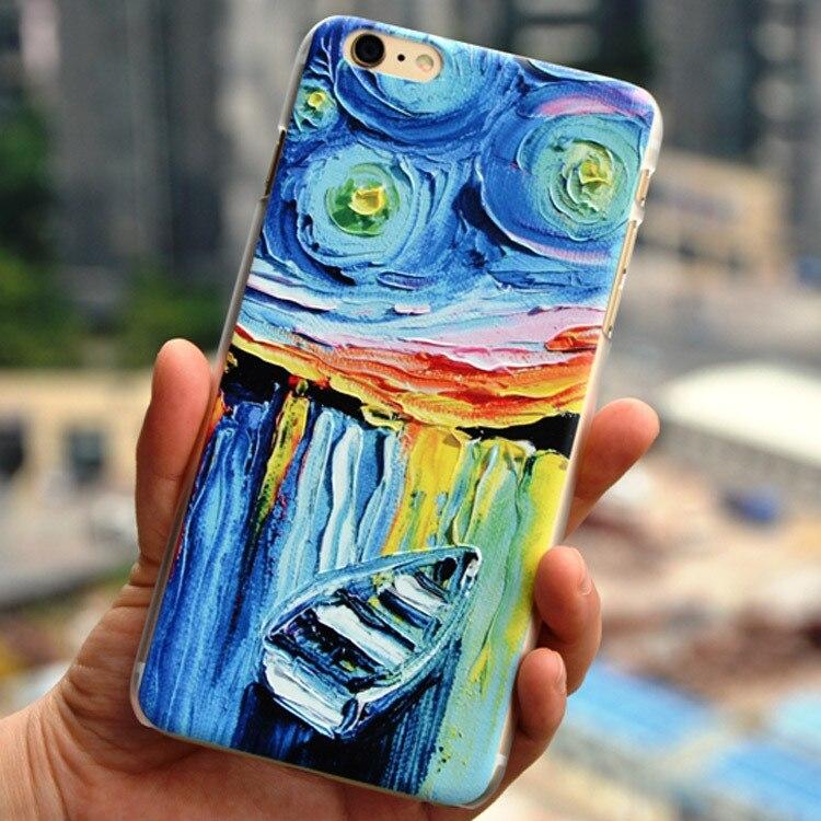 Cubierta para el iphone 6 for iphone 6 más, lujo 3D pintura alivio pintura al ól
