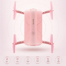 Pink Foldable Pocket Selfie Drone With Camera Jjrc H37 Wifi Fpv Quadcopter Rc Drones Phone Control Mini Dron Elfie Copter