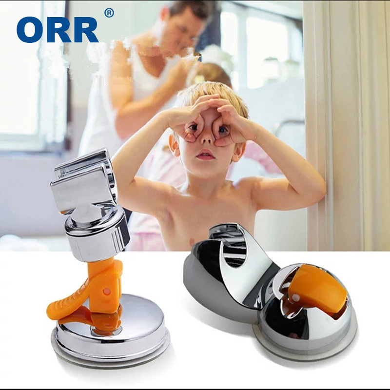 Shower suction cup bracket holder bathroom accessories 360 rotation wall mounted free of punch sucking disc base ABS ORR