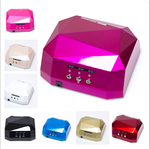 LED Nail Lamp Nail Dryer Diamond Shaped 36W Long LIife LED CCFL Curing Nail Tools for UV Gel Nail Polish Art Tools with original package sensor 36w dryer gel rapid drying device diamond shaped nail lamp led curing for uv gel polish nail art