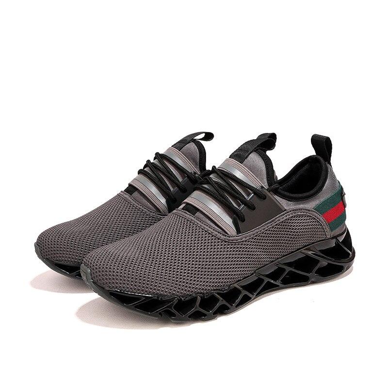 Verano fresco transpirable hombres zapatillas Air Mesh Casual zapatos guinga Lace Up cómodos zapatos para caminar zapatillas ZY-17