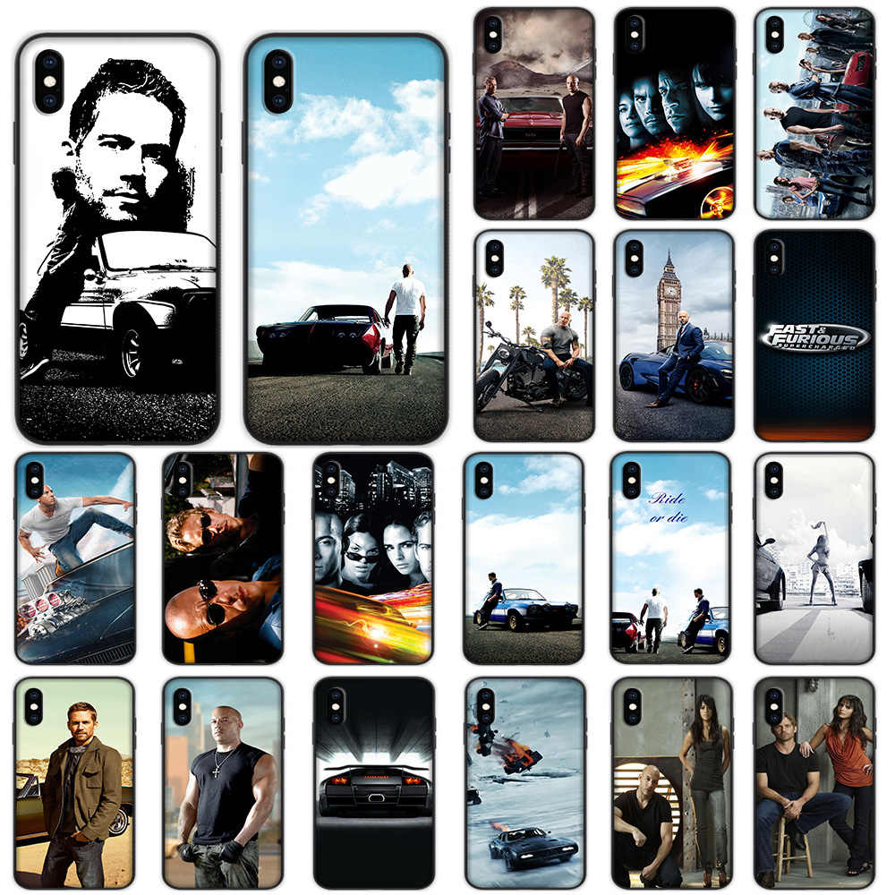 Fast & Furious Zachte Case voor iPhone XS Max XR X 7 8 6 6 S Plus 5 5 S SE Cover