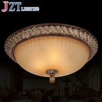 American Country Classic Ceiling Lamp E27 3*40W Circular Resin Glass Lighting Dia42* H25cm Weight 6kg For Bedroom