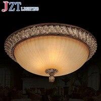 País da américa Lâmpada Do Teto Clássico E27 3*40 w Circular De Vidro Resina Iluminação 6 Dia42 * H25cm Peso kg para o Quarto