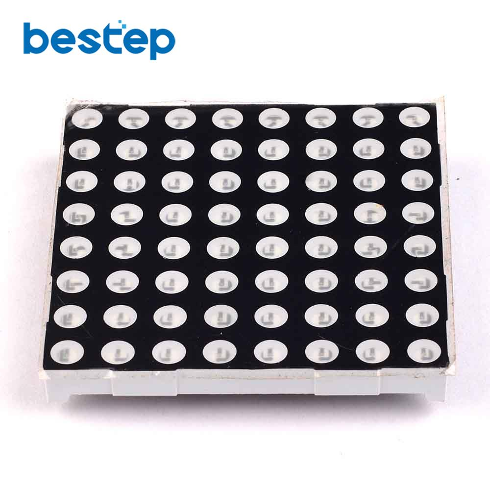 1PCS 5mm Lattice 8 * 8 LED Dot Matrix Digital Tube Module 5 Mm Red Highlighted Red 60 * 60 Mm Common Anode