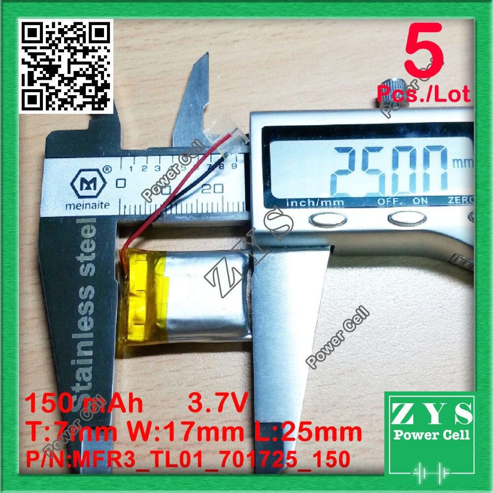 SafetyPacking(Level 4) 5pcs 3.7V 150mAh Drone Quadcopter Lipo BatteryFor Eachine H8 JJRC H8 Mini Syma S107g X2 Nihui U207 H2 ,