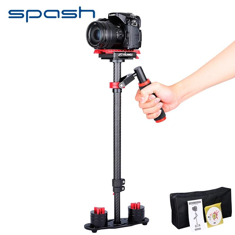 spash S60T Professional Portable Carbon Fiber Mini Handheld Camera Stabilizer Lightweight DSLR Camcorder Video Steadicam ashanks mini carbon fiber handheld