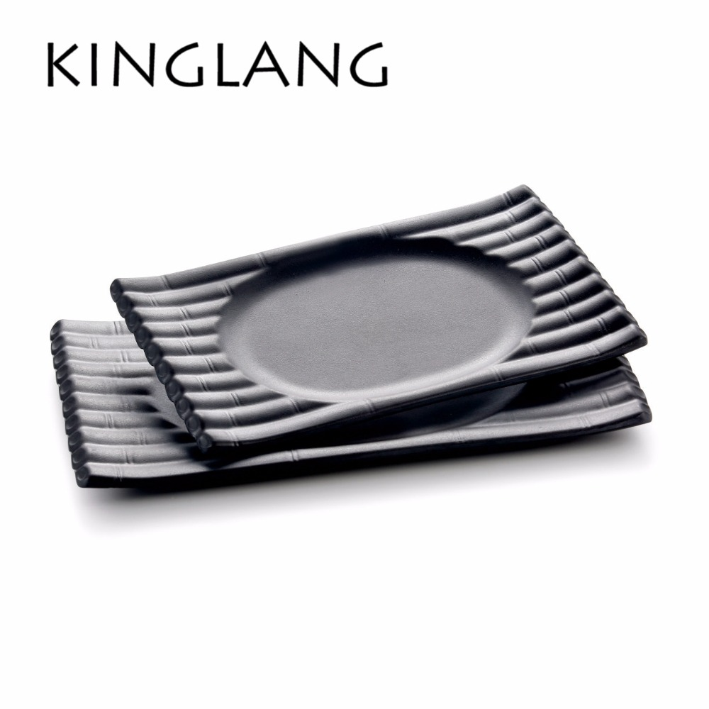 NEW arrival raft shape rectangle long dish oval plate for beaf western BBQ restaurant tableware suppliers