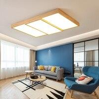 Современный светодиодный потолочный светильник скандинавские потолочные лампы для комнаты деревянные светильники освещение спальни подс