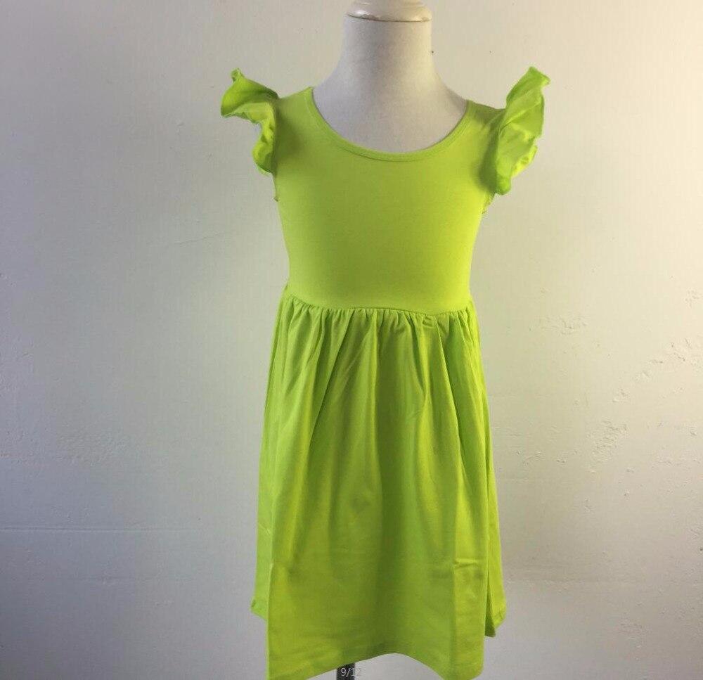 Wholesale children clothing summer custom lovely kids flutter ruffle ...