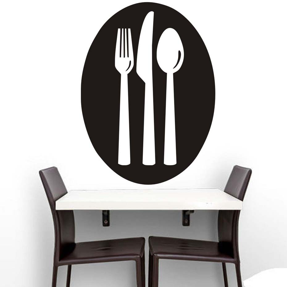A Set Of Forks Knife And Spoons Wall Decal Hollow Out Design - Wall stickers for dining roomdining room wall decals wall decal knife spoon fork wall decal