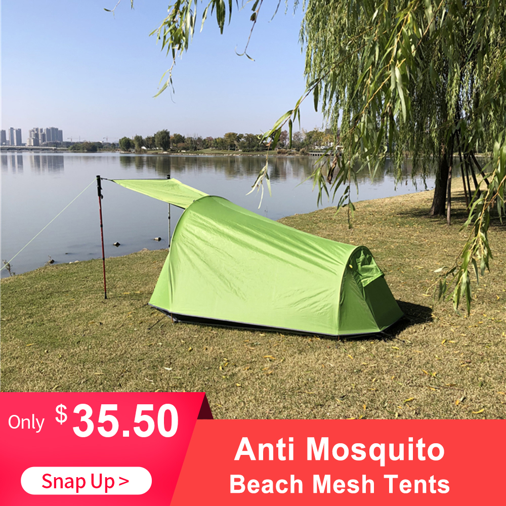 Outdoor Ultralight Summer Anti Mosquito Tent Insect Repellent Net Tent Camping Bivy Tent Hiking Climbing Cabana