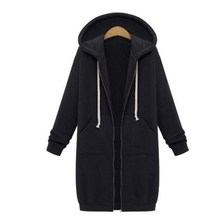 Women Long Coat Autumn 2018 Casual Plus Size Winter Hooded Jacket Female  Ladies 2XL JJ-134
