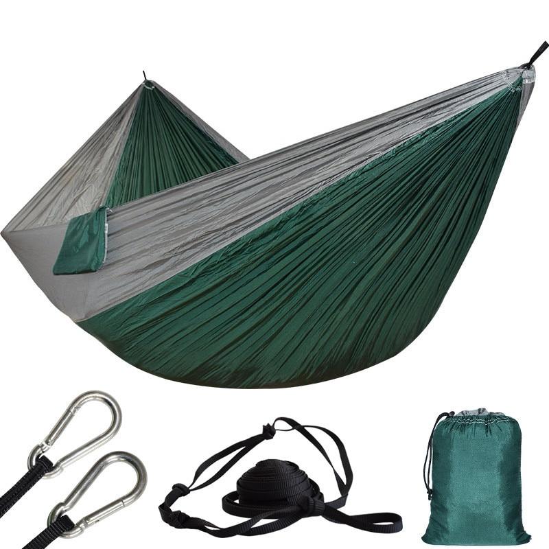Ultra-large 2 Person Parachute Cloth Hammock Double Garden Swing Nylon Survival Hamac Sleeping Hamaca Hamak Rede De Dormir Bed