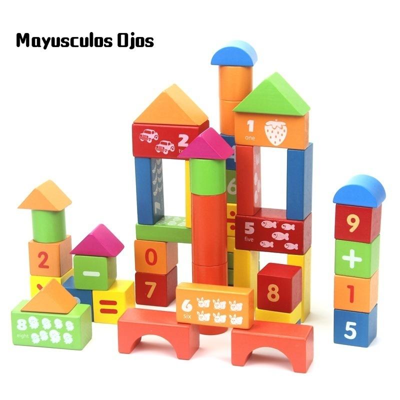 Domino Children Montessori Wooden Building Blocks Toys 12 Colors 120 Tablets Domino Contains Set 10 Pcs Dominos Accessories Baby Block Top Watermelons