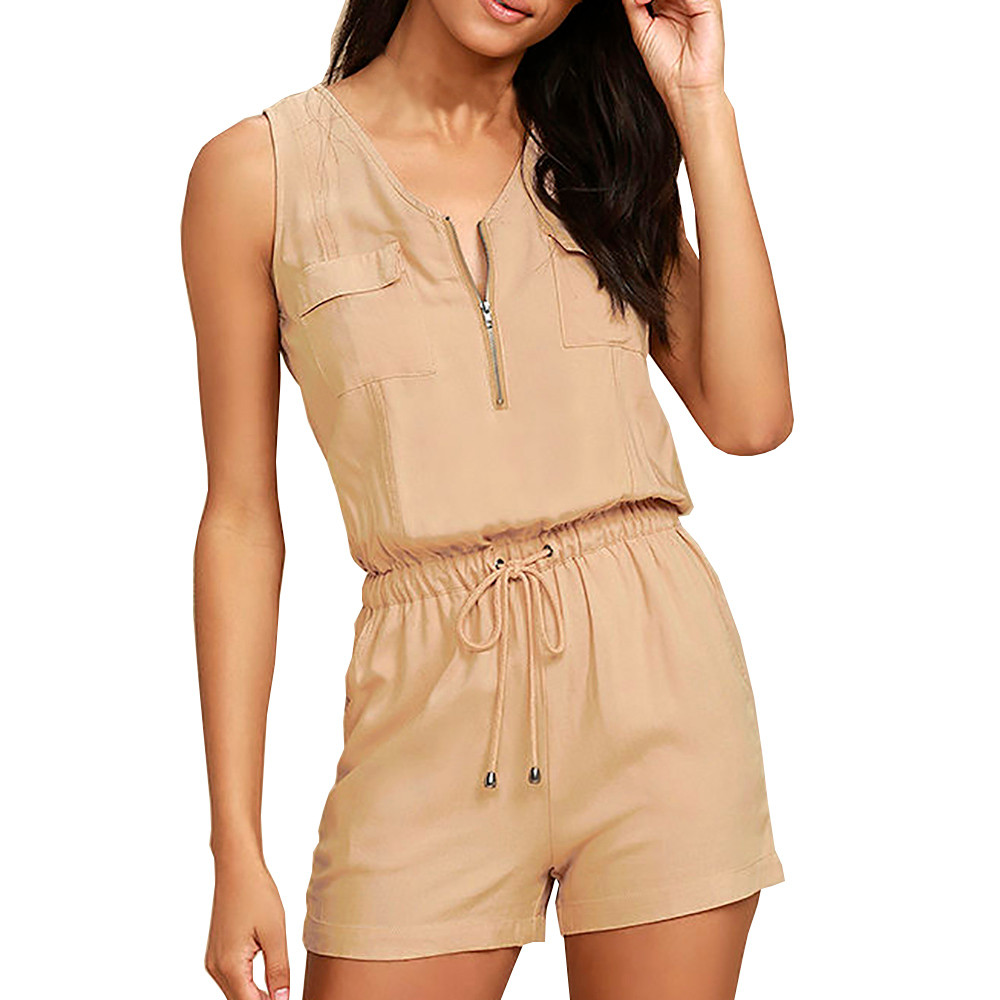 Free Ostrich Rompers womens shorts Fashion girl Sexy   Jumpsuit   Sleeveless Pants Bodysuit Top women sexy Playsuits   jumpsuits   D1635