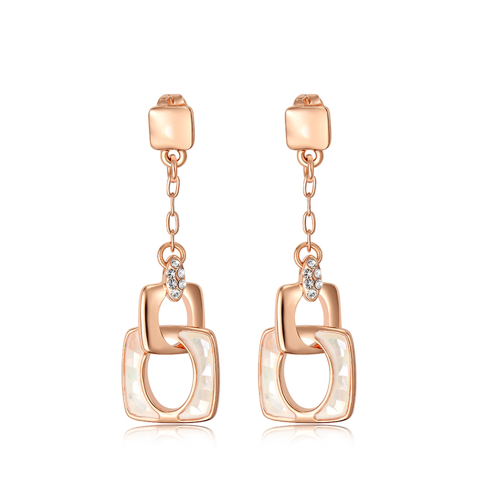 цена Viennois Fashion Jewelry Rose Gold Color Dangle Earrings Austrian Rhinestone Sea Shell Pieces Earrings for Women Accessories