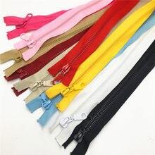 Alipress 10 sztuk 5 #50/60/70/80 CM otwarta końcówka zamki błyskawiczne z żywicy dla DIY szycia płaszcz kurtka narzędzia krawieckie 10 kolory dostępne