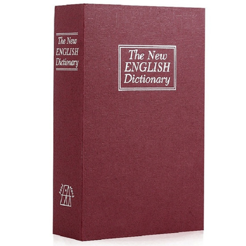 HOT-Dictionary Book Safe Diversion Secret Hidden Security Stash Booksafe Lock&Key