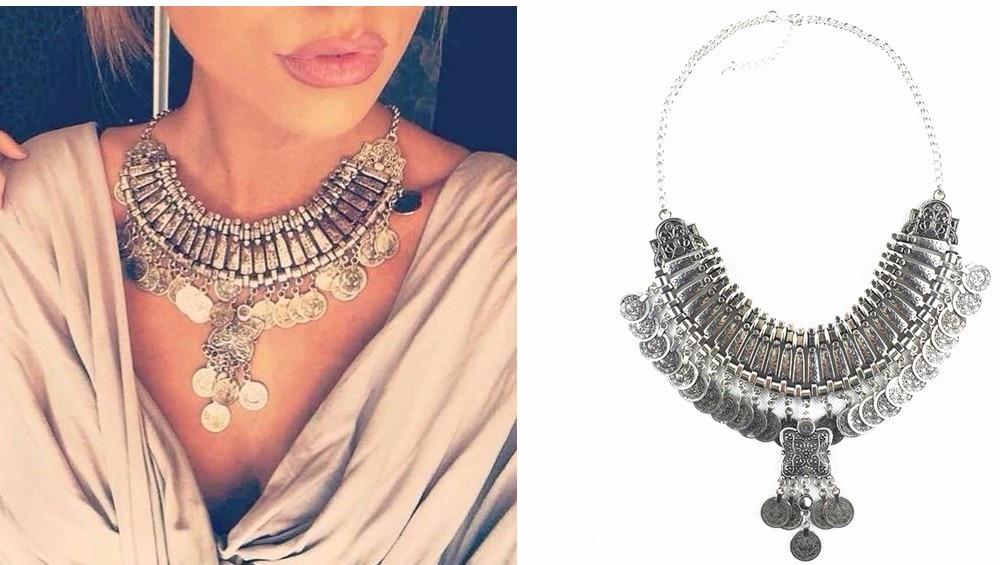 Ztech 18 Women Necklaces & Pendants Vintage Crystal Maxi Choker Statement Collier Femme Boho Big Fashion Jewellery Wholesale 10