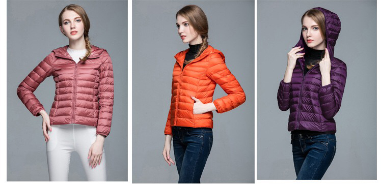 Women's Premium Hood Down Jacket Is Super Light And Concise In Fashionable Design Keep Warm But Without Any Heavy Feeling
