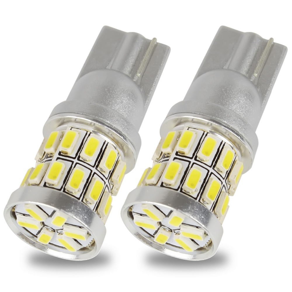 Safego 2pcs W5W T10 30 SMD 3014 LED Bulb 194 168 2825 for Car Interior Bulb Plate Dome Map Side Marker Door Courtesy Light White