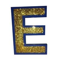 Блок 8 дюйм(ов) письмо персонализированное подарок синий домашний декор древесины имя знак древесины детей имя для детской