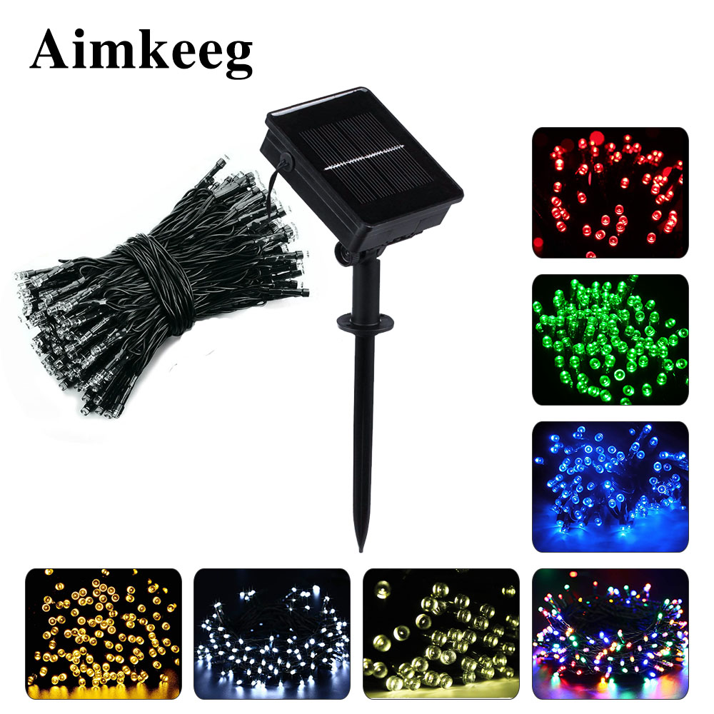 50/100/200 Led Solar Lights Outdoor Waterproof Fairy Holiday Lights Garlands Christmas Tree Solar Chain String Garden Decoration