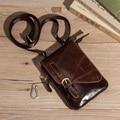 Alta Calidad de Los Hombres Bolso de La Cintura de Cuero Genuino Aceite de Cera de Cuero de Viaje Bucles de La Cadera del Paquete de Fanny Correa Bum Bag Vintage Messenger Bag NK8002