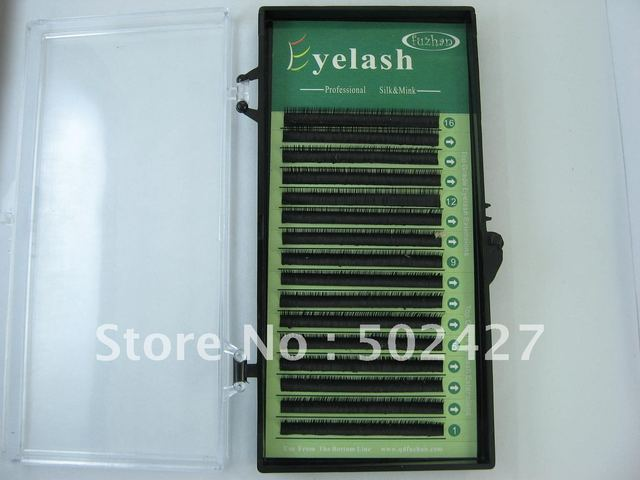 0006-2 sable eyelashes 0.2mm  9mm  D-curl