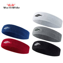 WorthWhile Cotton Elastic Sweatband Basketball Sports Headband Women Men Gym Fitness Sweat Hair Band Volleyball Tennis Running(China)