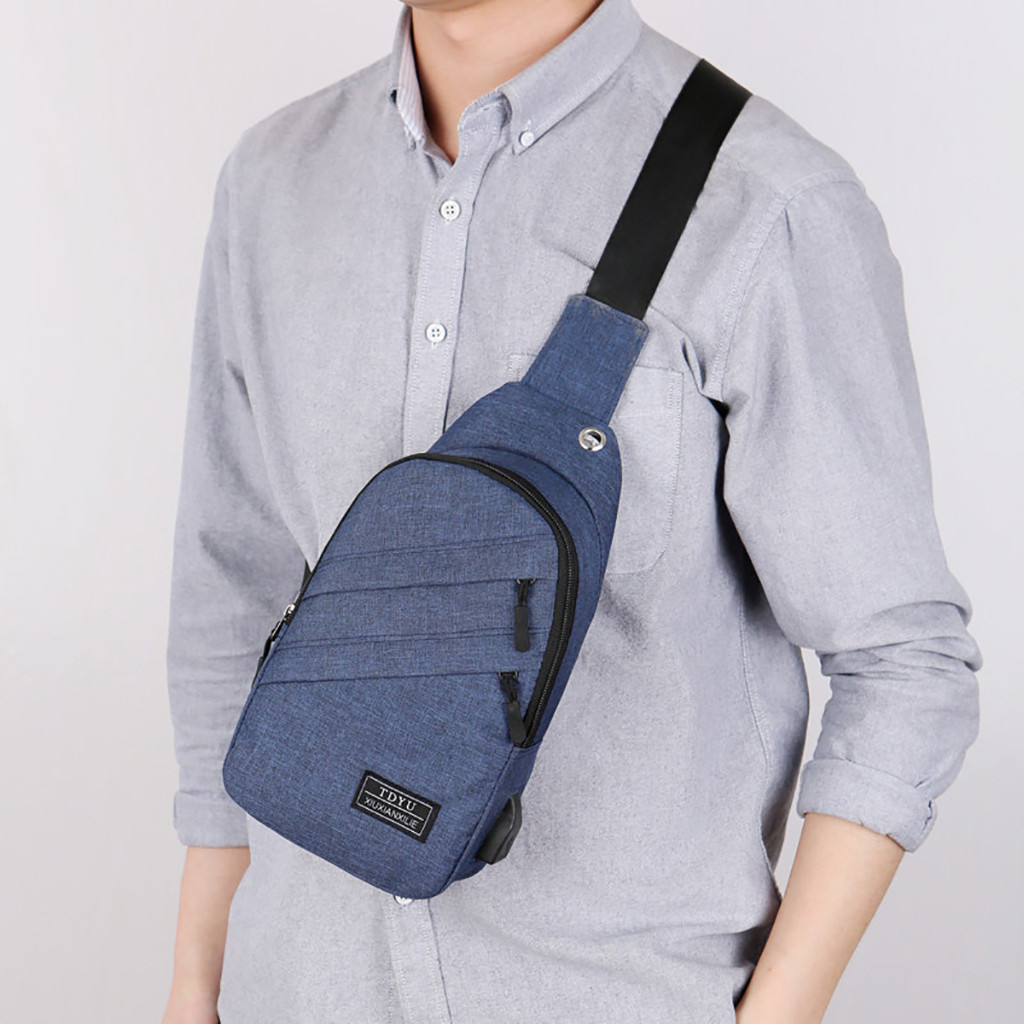 Messenger-Bag Crossbody-Bags Small-Bag Plaid-Chest-Bag Sac One-Shoulder Fashion Men