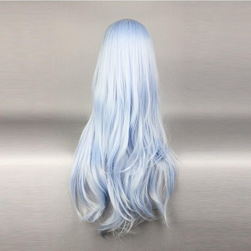 Mcoser peruca longa ondulada cosplay, peruca longa