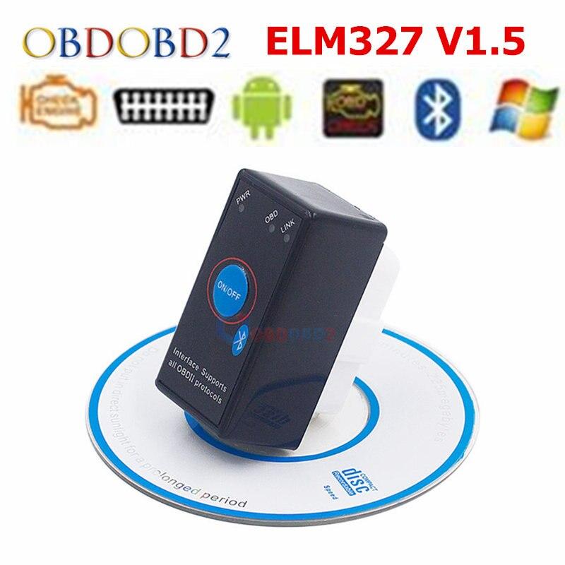 V1.5 Super MINI ELM327 Bluetooth ELM 327 Versione 1.5 Con PIC18F25K80 Circuito Integrato OBD2/OBDII per Android Torque/PC Auto Codice Scanner