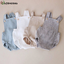 hot deal buy baby boys rompers summer infant girls cotton solid rompers newborn baby one-pieces kids boy suspender jumpsuits baby boy clothes
