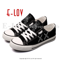 E LOV Men Casual Flat Shoes Funny Printed Cartoon Canvas Shoe Hip Hop Street Style Espadrilles